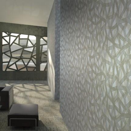 Une ambiance futuriste dans mon salon blog deco indoor for Papier peint moderne salon