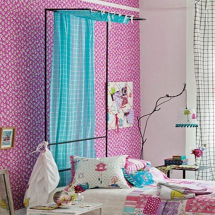 un joli papier peint pour la chambre de votre petite princesse blog deco indoor. Black Bedroom Furniture Sets. Home Design Ideas