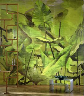 Papier peint Elitis Anguille Big Croco Legend Lost in plantation VP 429