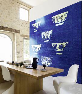 Wallpaper Elitis Le bleu thé DM 864 04-05 - Panoramic