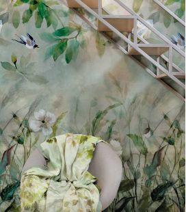 Wallcovering Designers Guild Scènes & Murals Kiyosumi Celadon - PDG1113/01
