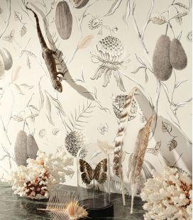 Wallpaper Khrôma Cabinet of Curiosities Papaya CAB 601-605